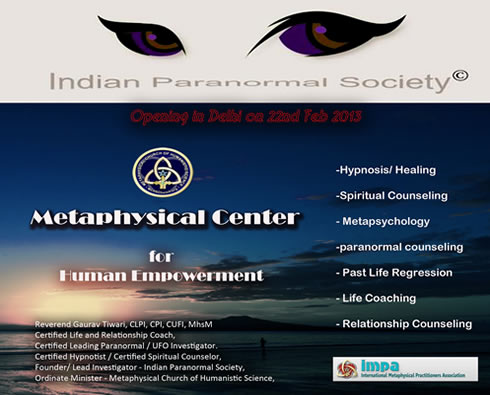 Indian Paranormal Society is a professional association of dedicated Researchers